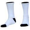BLZR Blank Athletic Crew Socks in White by Mile End Sportswear