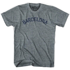 Barcelona City Vintage T-shirt in Athletic Blue by Mile End Sportswear