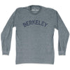 Berkeley City Vintage Long Sleeve T-Shirt in Athletic Grey by Mile End Sportswear