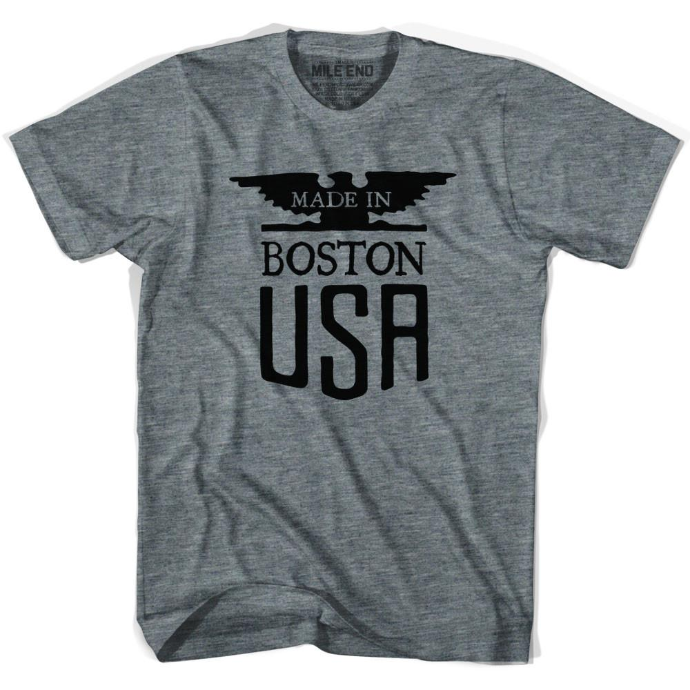 Made In USA Boston Vintage Eagle T-shirt in Athletic Grey by Mile End Sportswear