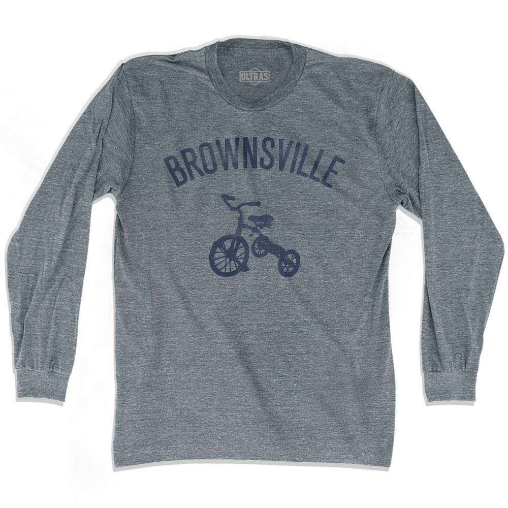 Brownsville City Tricycle Adult Tri-Blend Long Sleeve T-shirt by Ultras