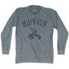 Buffalo City Tricycle Adult Tri-Blend Long Sleeve T-shirt by Ultras