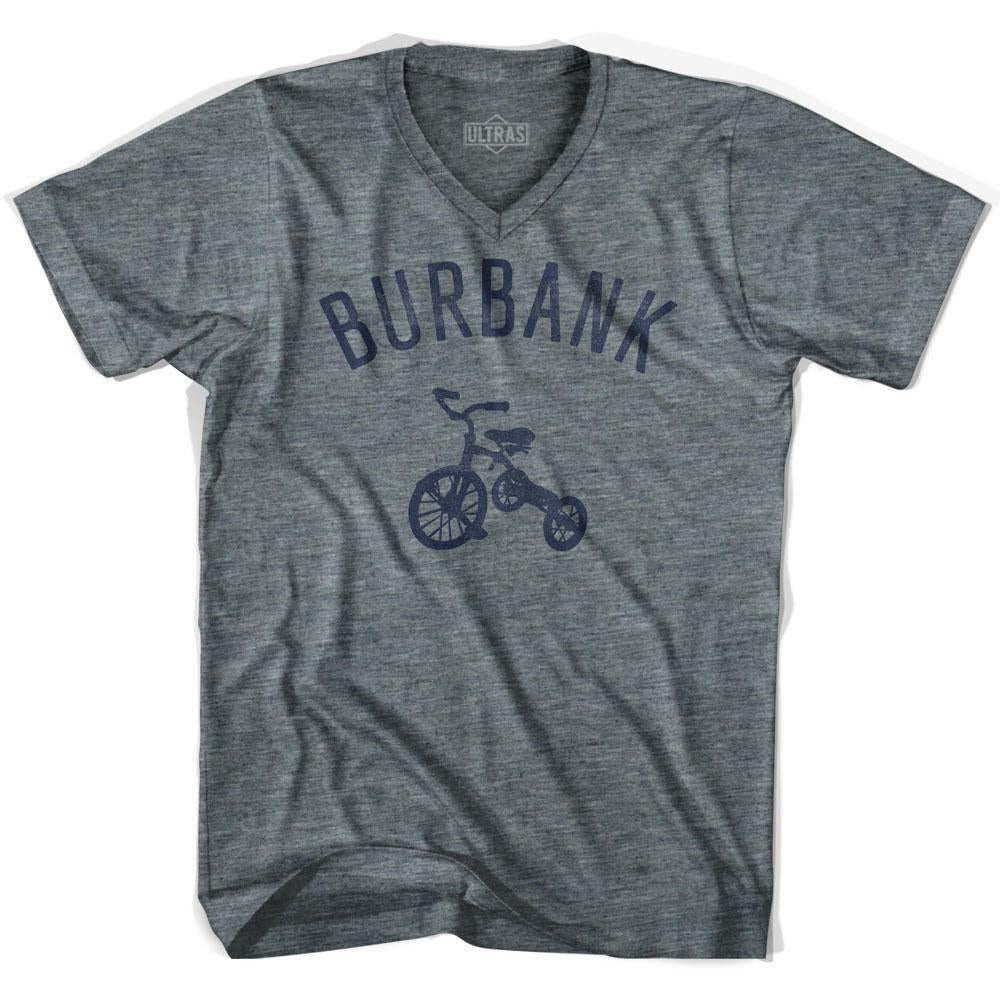 Burbank City Tricycle Adult Tri-Blend V-neck T-shirt by Ultras