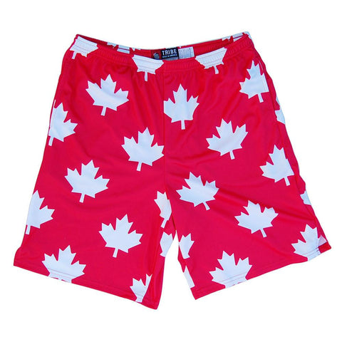 Canada All Over Maple Leafs Lacrosse Shorts