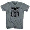 Made In USA Chicago Vintage Eagle T-shirt in Athletic Grey by Mile End Sportswear