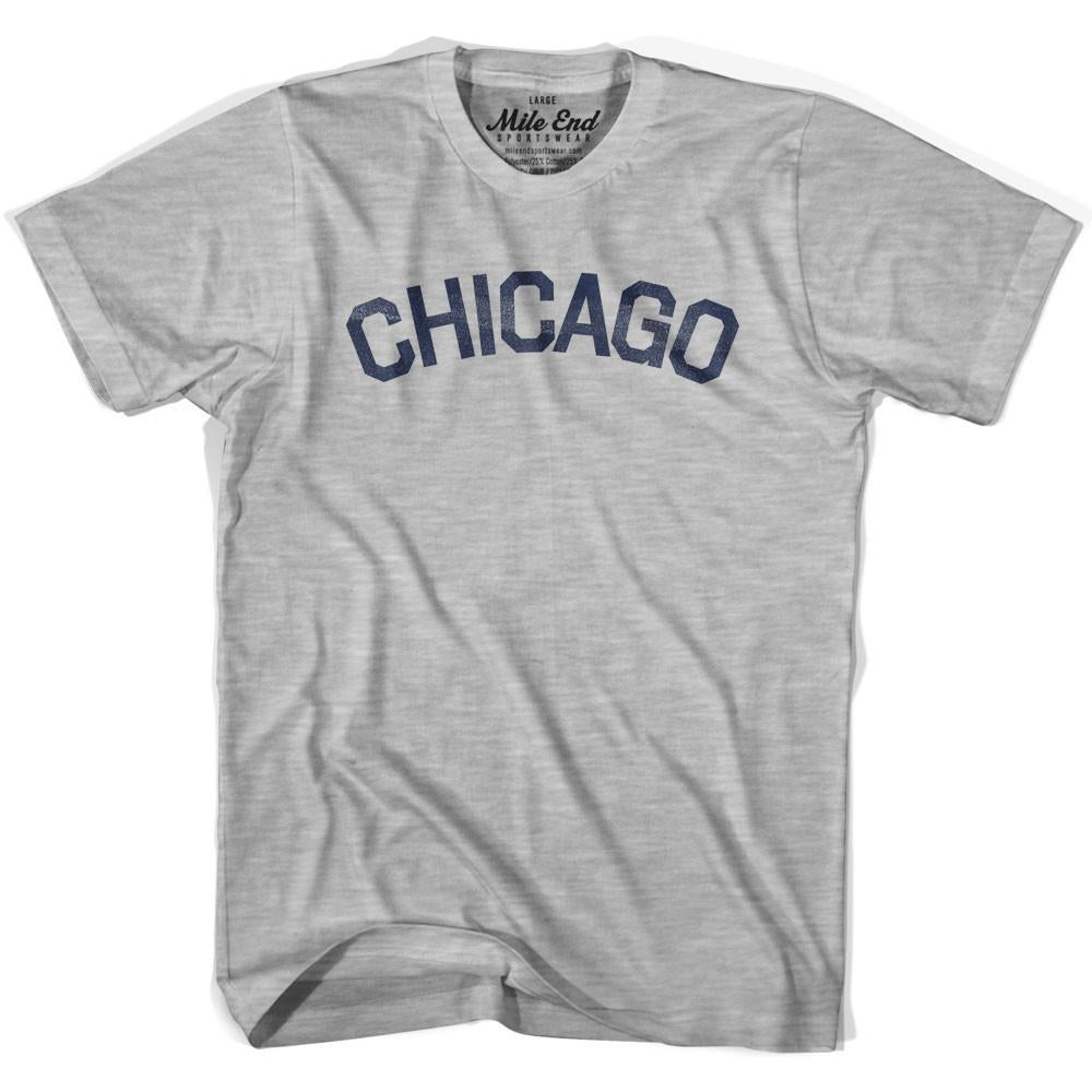 Chicago City Vintage T-shirt in Grey Heather by Mile End Sportswear