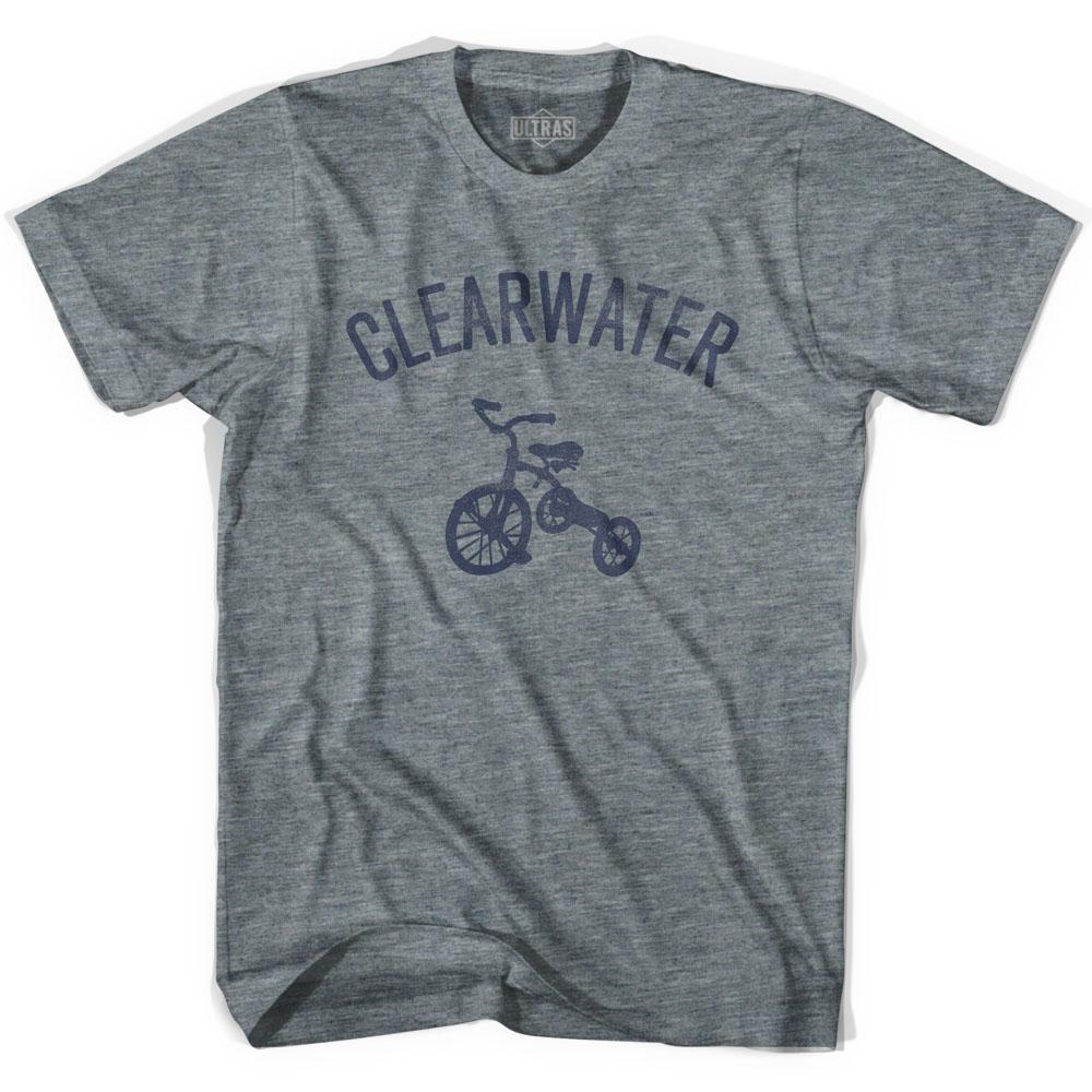 Clearwater City Tricycle Adult Tri-Blend V-neck Womens T-shirt by Ultras