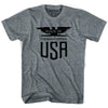 Made In USA Colorado Vintage Eagle T-shirt in Athletic Grey by Mile End Sportswear