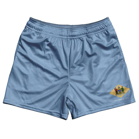 Delaware State Flag Rugby Shorts Made In USA