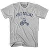 Fort Collins City Tricycle Adult Cotton T-shirt by Ultras