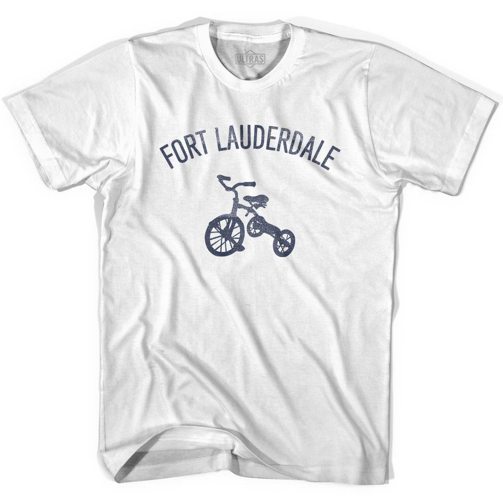 Fort Lauderdale City Tricycle Adult Cotton T-shirt by Ultras