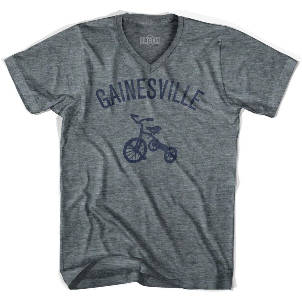 Gainesville City Tricycle Adult Tri-Blend V-neck T-shirt by Ultras