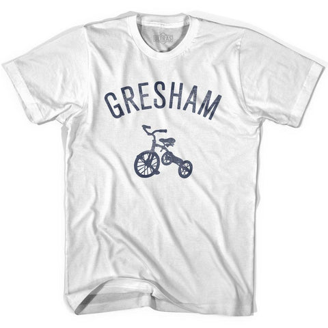 Gresham City Tricycle Womens Cotton T-shirt