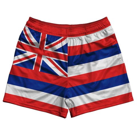 Hawaii State Flag Rugby Shorts Made In USA