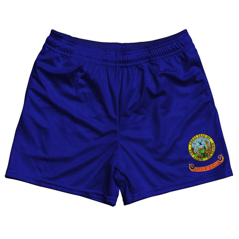 Idaho State Flag Rugby Shorts Made In USA
