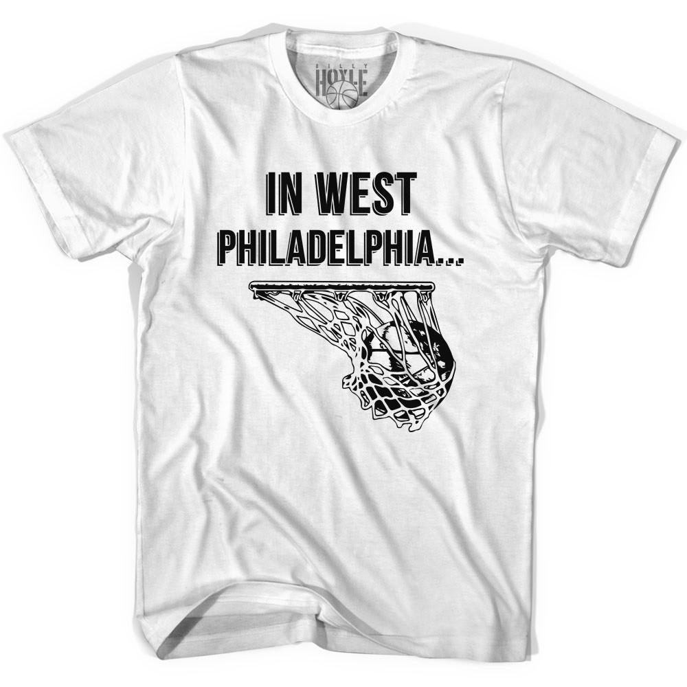 In West Philadelphia Basketball T-shirt in White by Billy Hoyle