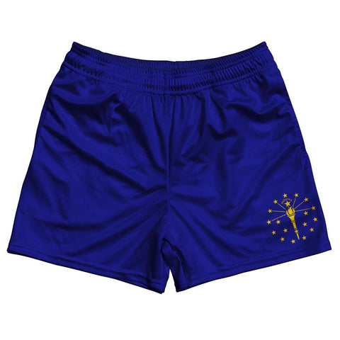 Indiana State Flag Rugby Shorts Made In USA