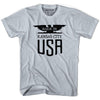 Made In USA Kansas Vintage Eagle T-shirt in Grey Heather by Mile End Sportswear