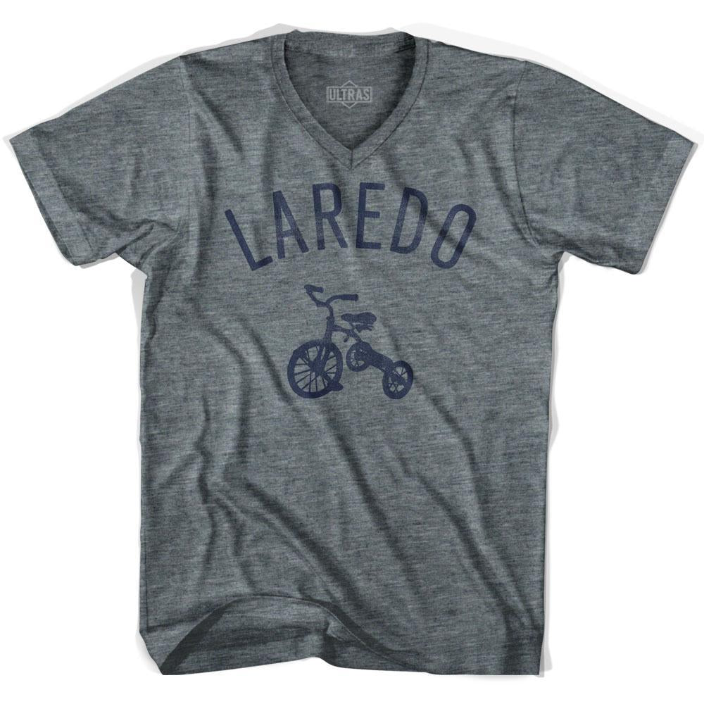 Laredo City Tricycle Adult Tri-Blend V-neck T-shirt by Ultras