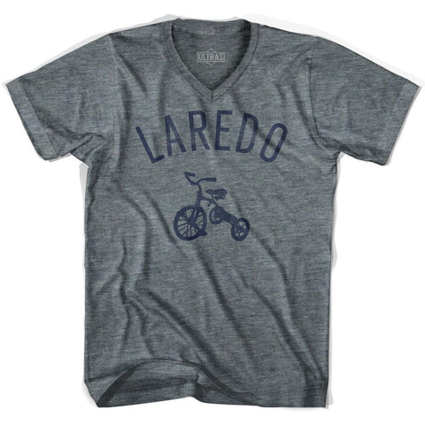 Laredo City Tricycle Adult Tri-Blend V-neck T-shirt