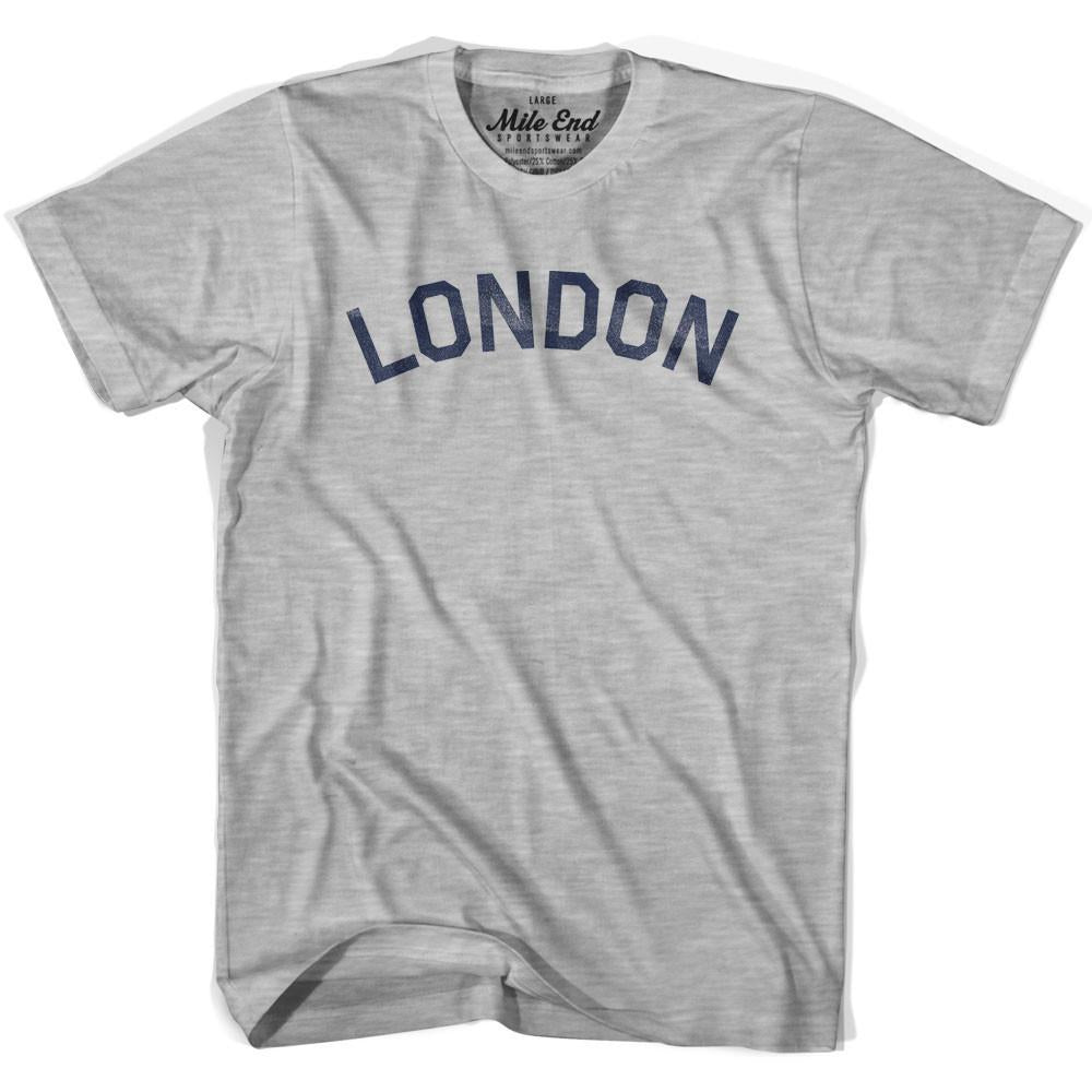 London City Vintage T-shirt in Grey Heather by Mile End Sportswear