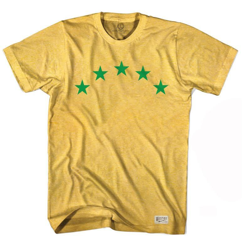 Brazil World Cups Soccer T-shirt in Heather Gold by Ultras
