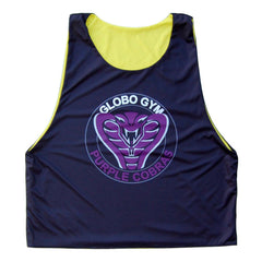 Average Joes and Globo Gym Lacrosse Pinnie in Yellow and Black by Tribe Lacrosse