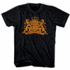 Holland Coat of Arms Soccer T-shirt in Black by Ultras