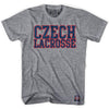 Czech Republic Lacrosse Nation T-shirt in Athletic Grey by Tribe Lacrosse