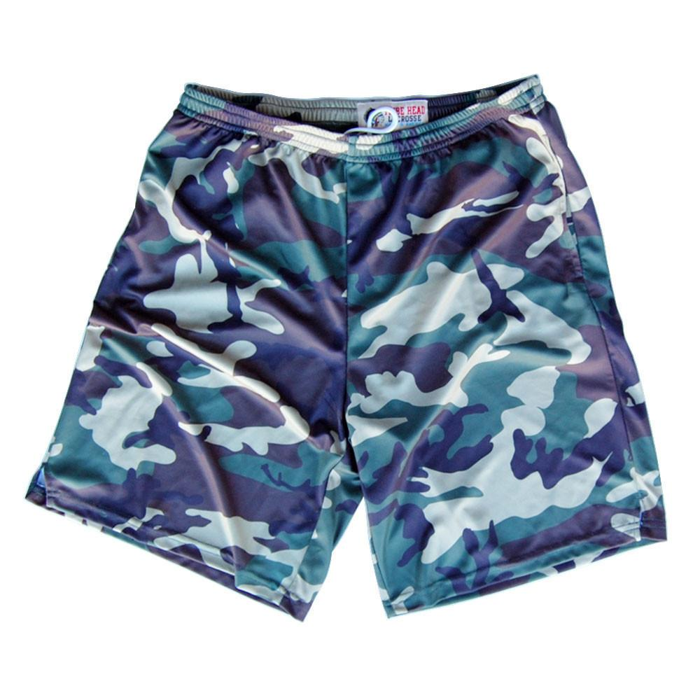 Army Camo Sublimated Lacrosse Shorts in Green by Tribe Lacrosse