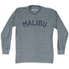 Malibu City Vintage Long Sleeve T-Shirt in Athletic Grey by Mile End Sportswear