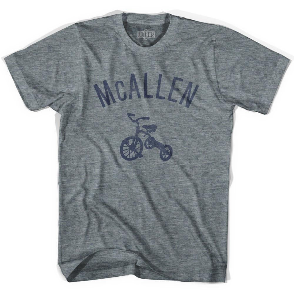 McAllen City Tricycle Adult Tri-Blend V-neck Womens T-shirt by Ultras