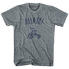 Miami City Tricycle Adult Tri-Blend V-neck Womens T-shirt by Ultras