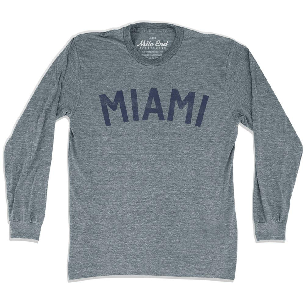Miami City Vintage Long Sleeve T-Shirt in Athletic Grey by Mile End Sportswear
