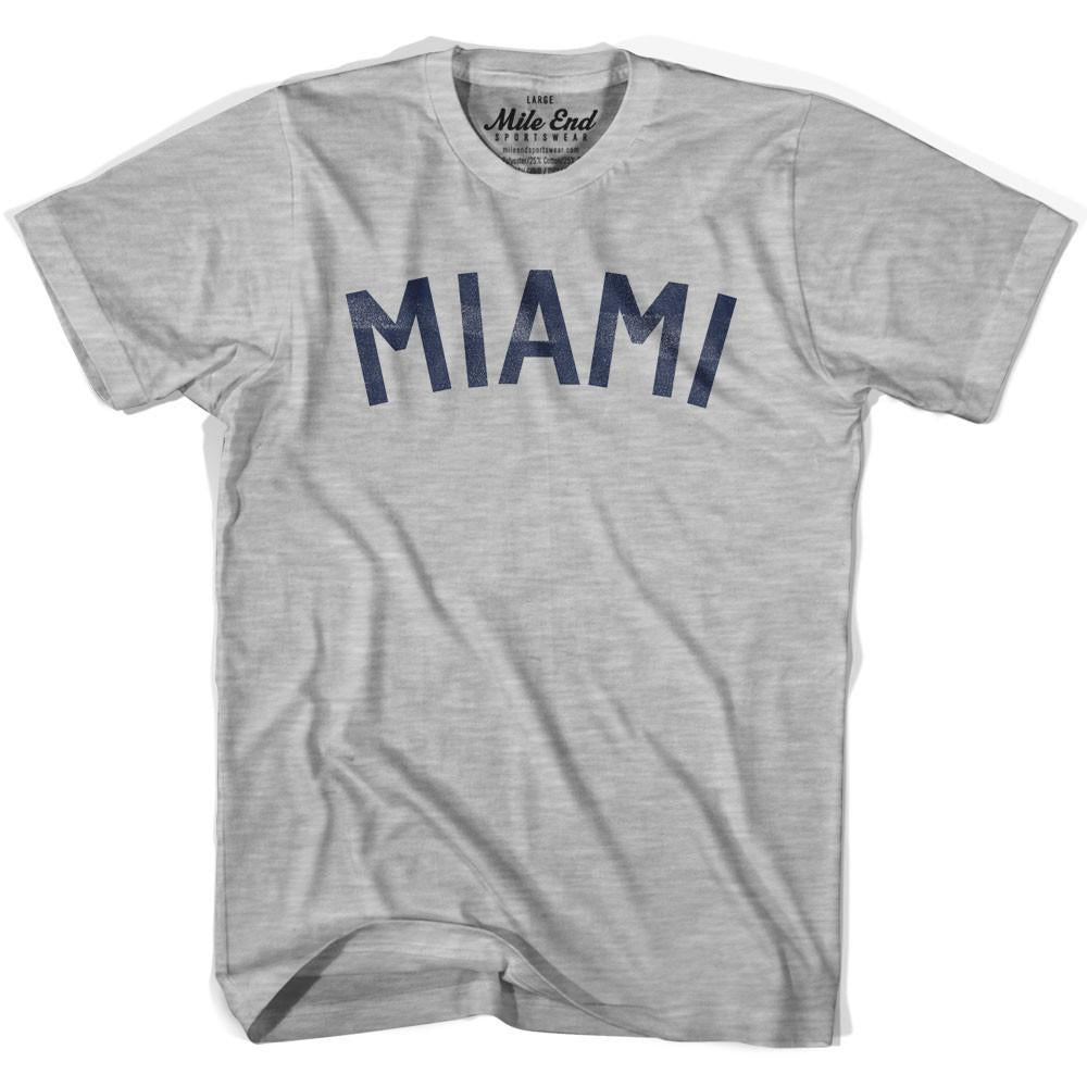 Miami City Vintage T-shirt in Grey Heather by Mile End Sportswear