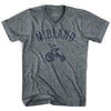 Midland City Tricycle Adult Tri-Blend V-neck T-shirt by Ultras