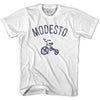 Modesto City Tricycle Adult Cotton T-shirt by Ultras