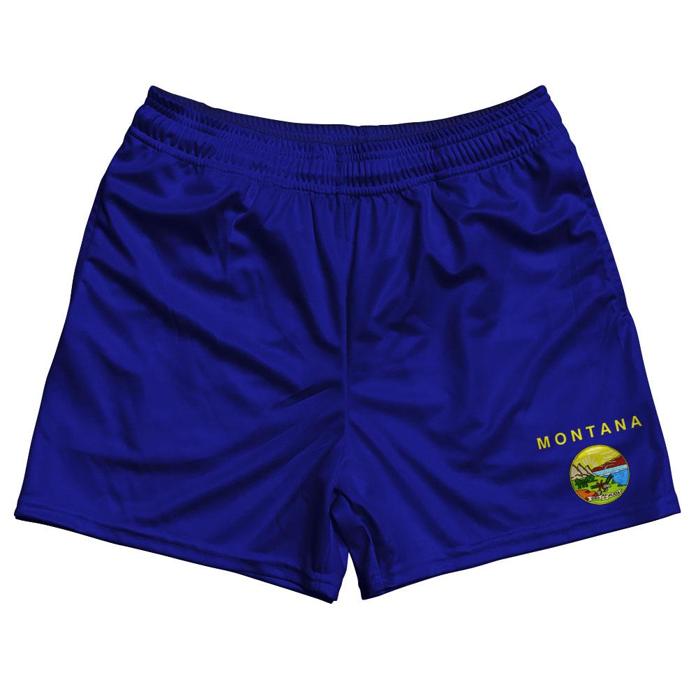 Montana State Flag Rugby Shorts Made In USA by Ruckus