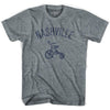 Nashville City Tricycle Adult Tri-Blend V-neck Womens T-shirt by Ultras
