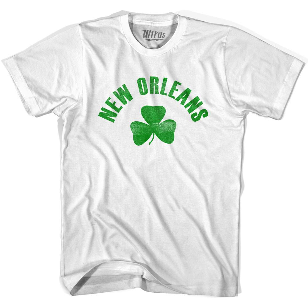 New Orleans City Shamrock Cotton T-shirt by Ultras