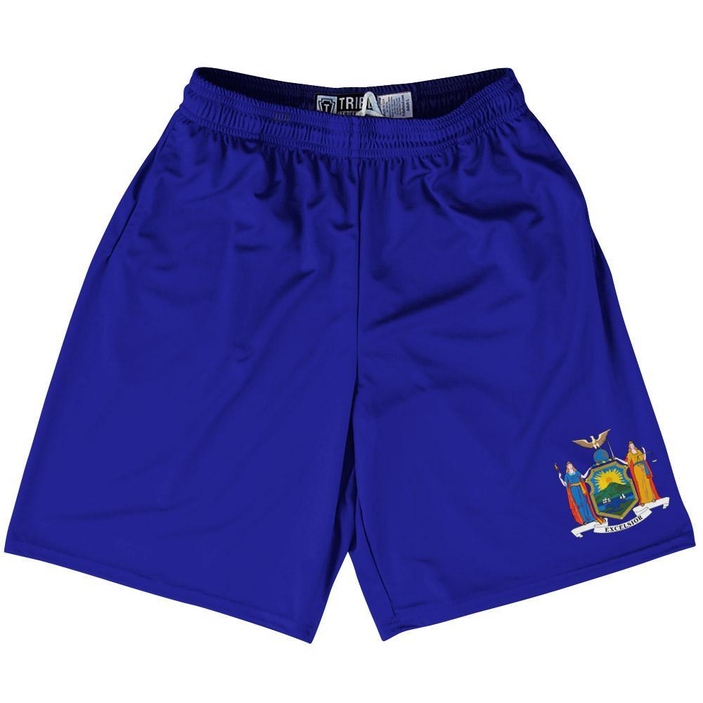 "New York State Flag 9"" Inseam Lacrosse Shorts by Tribe Lacrosse"