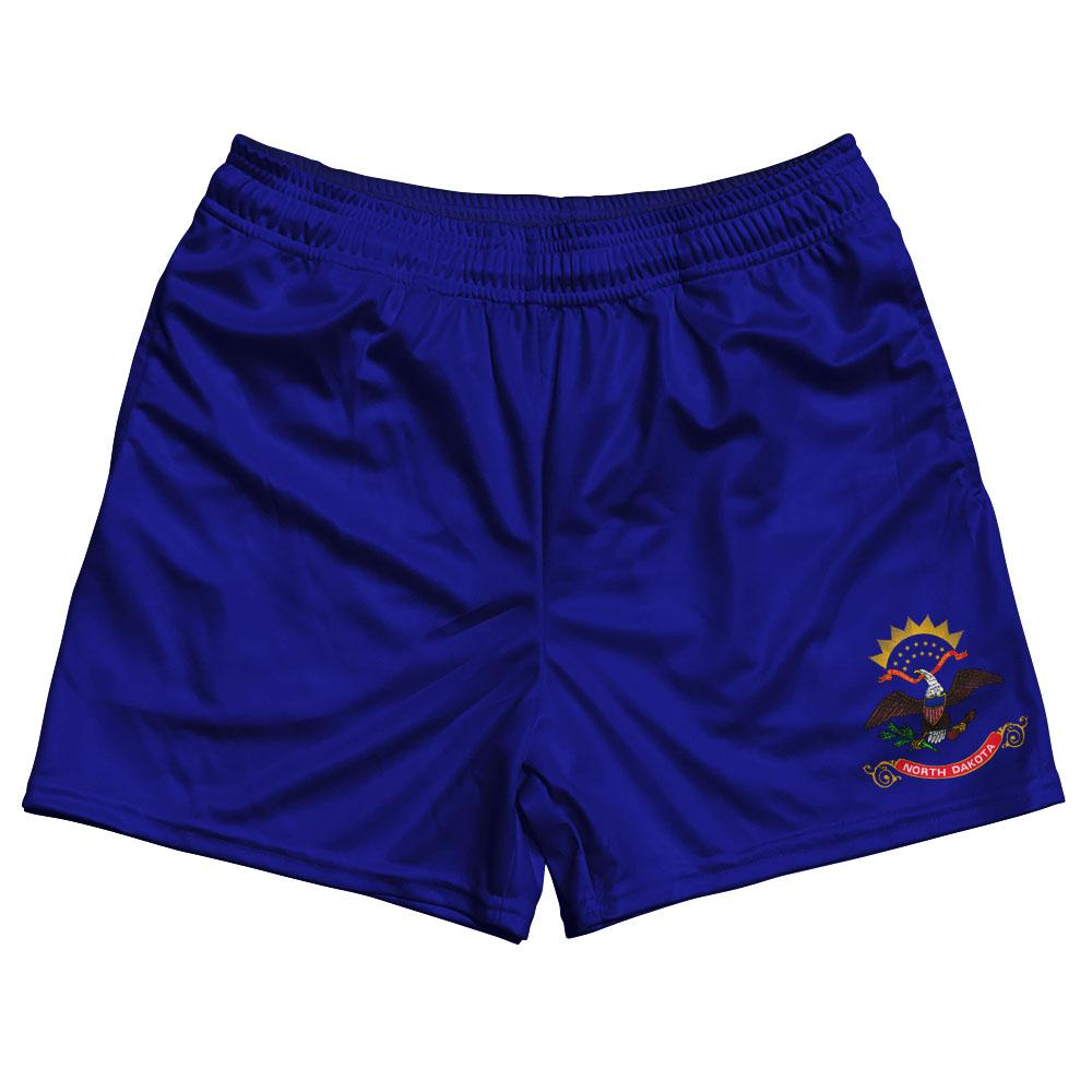 North Dakota State Flag Rugby Shorts Made In USA by Ruckus