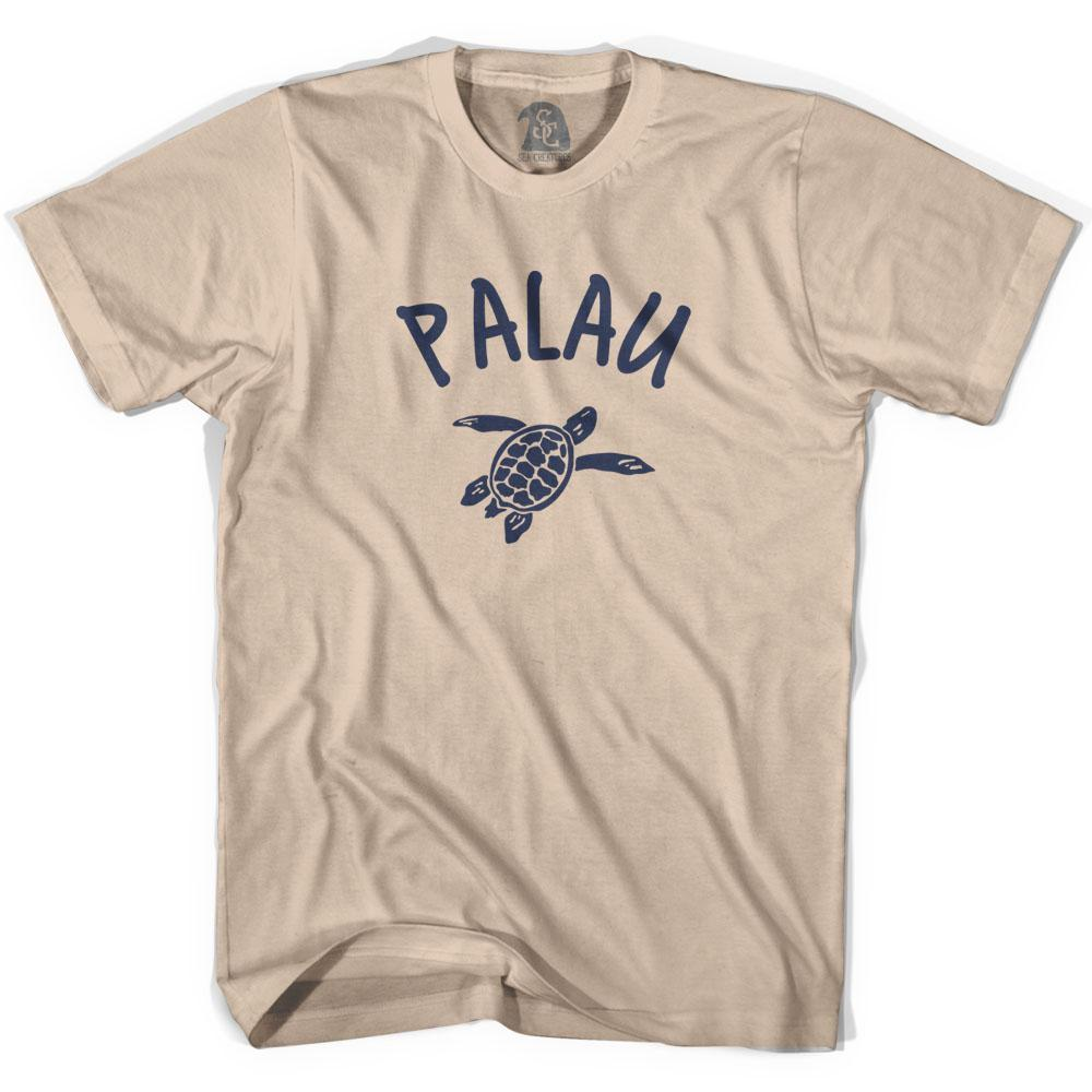 Palau Beach Sea Turtle Adult Cotton T-shirt by Ultras