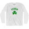 Peoria City Shamrock Cotton Long Sleeve T-shirt by Ultras