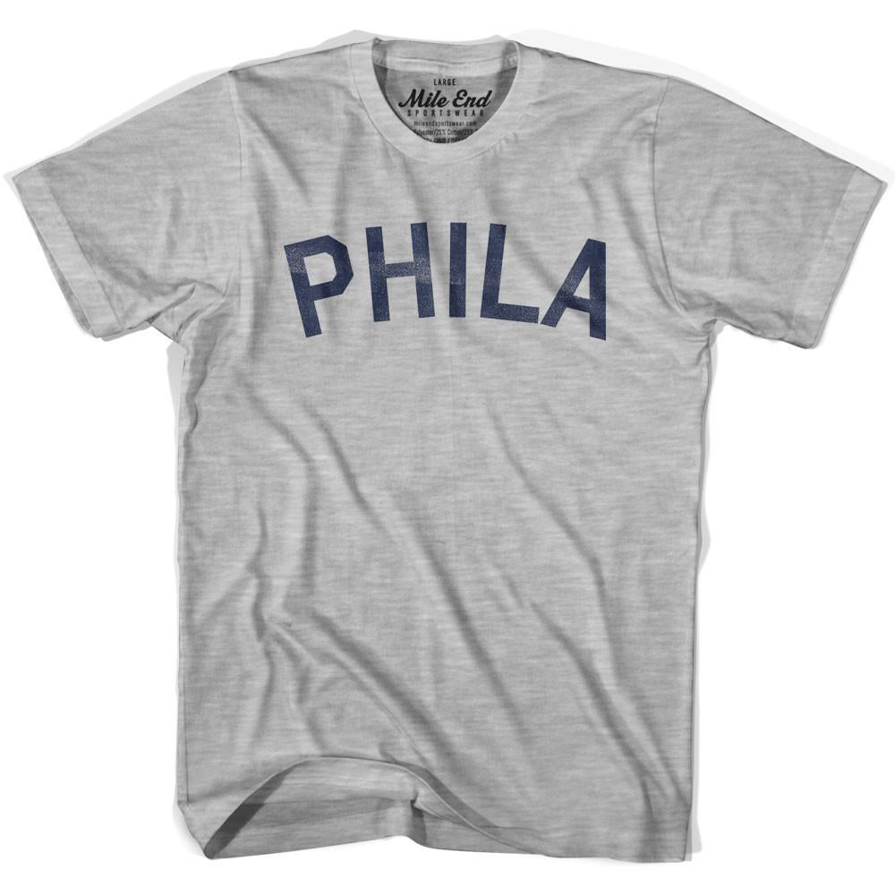 Phila City Vintage T-shirt in Grey Heather by Mile End Sportswear