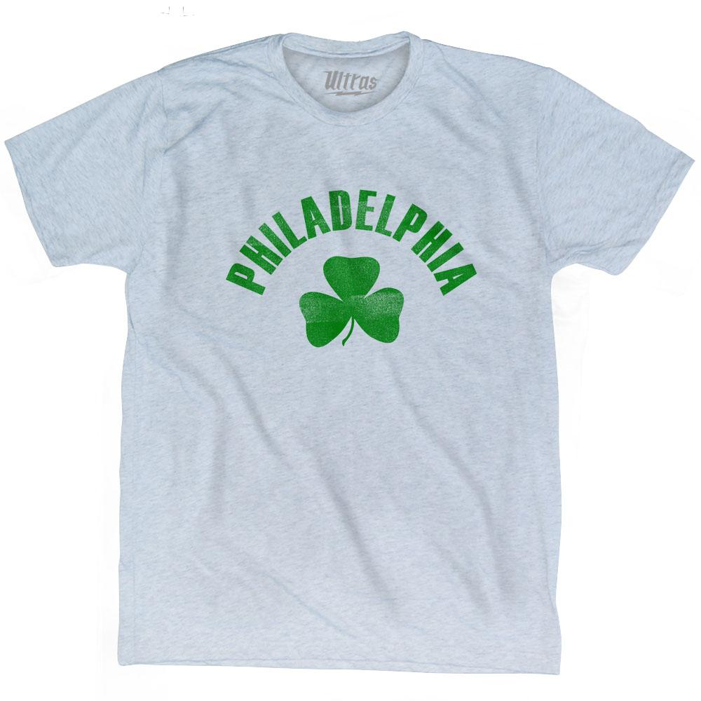 Philadelphia City Shamrock Tri-Blend T-shirt by Ultras