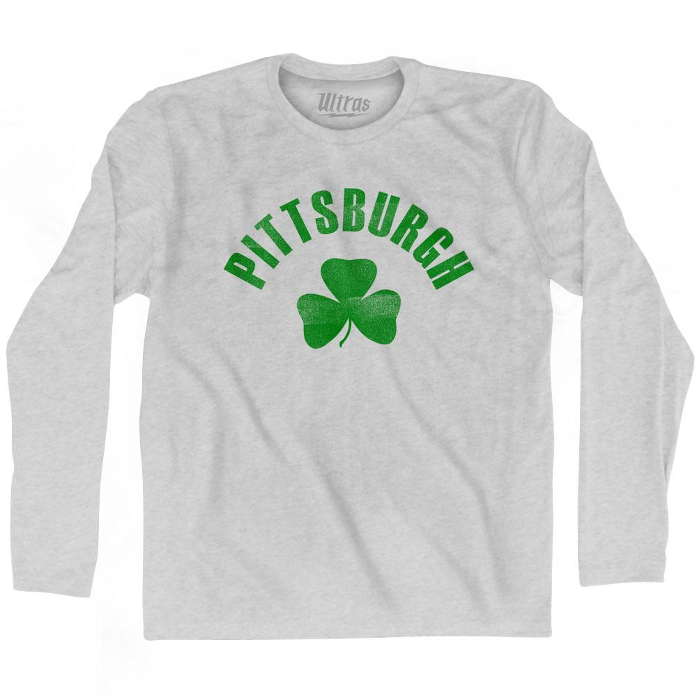 Pittsburgh City Shamrock Cotton Long Sleeve T-shirt by Ultras