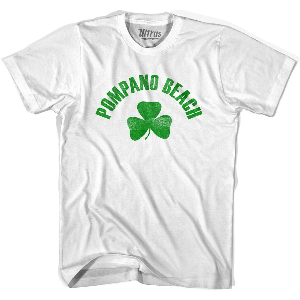 Pompano Beach City Shamrock Womens Cotton T-shirt by Ultras