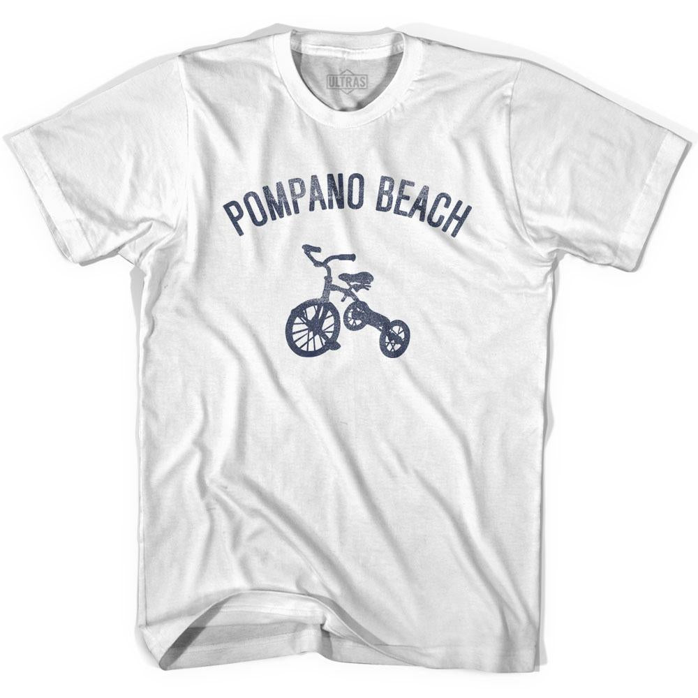 Pompano Beach City Tricycle Adult Cotton T-shirt by Ultras
