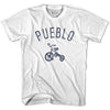 Pueblo City Tricycle Adult Cotton T-shirt by Ultras